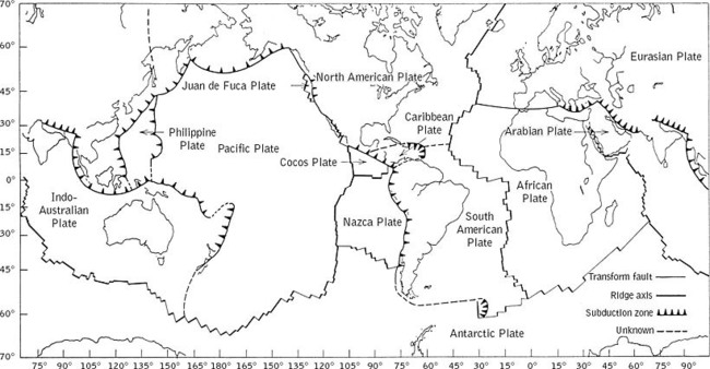 Plate Tectonics Coloring Pages